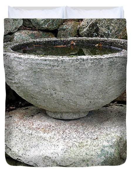 Stone Bowl Duvet Cover