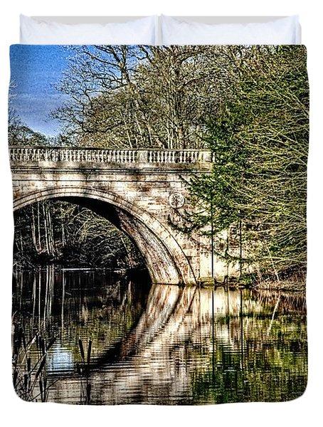 Stone Bridge On River Duvet Cover