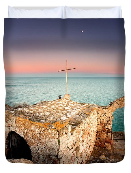 Stone Chapel Duvet Cover by Evgeni Dinev