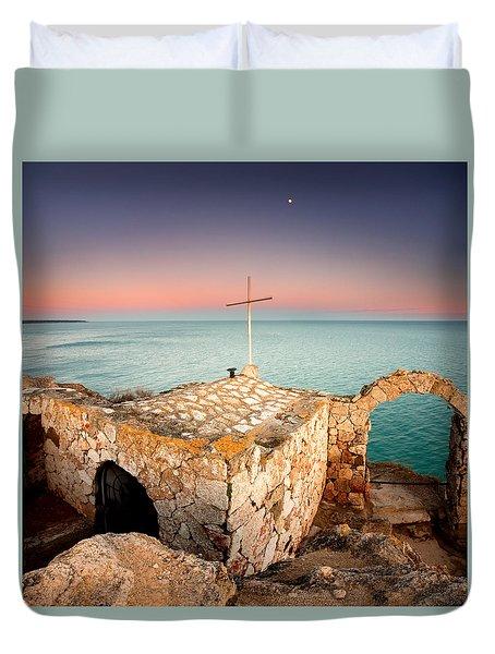 Stone Chapel Duvet Cover