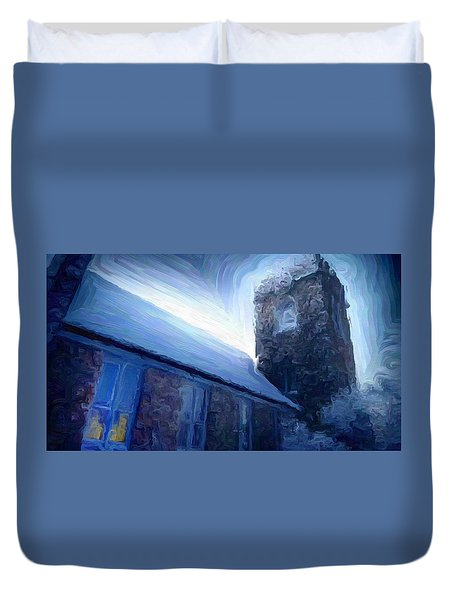 Stone Church Watch Tower Duvet Cover