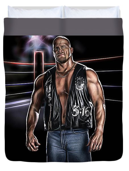 Stone Cold Steve Austin Wrestling Collection Duvet Cover