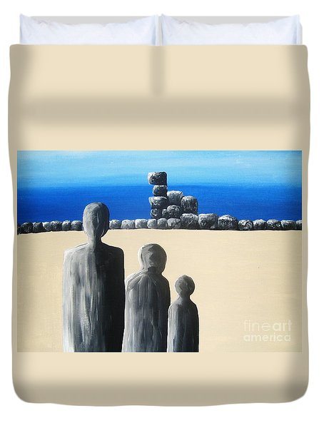 Stone Horizon Duvet Cover by Reb Frost
