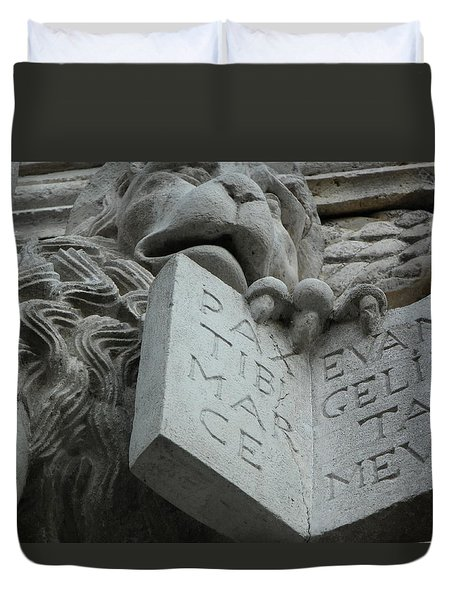 Stone Lion II Duvet Cover