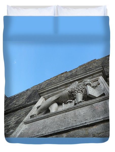 Stone Lion Duvet Cover