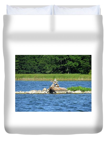 Stone Man Of  The Rift Duvet Cover