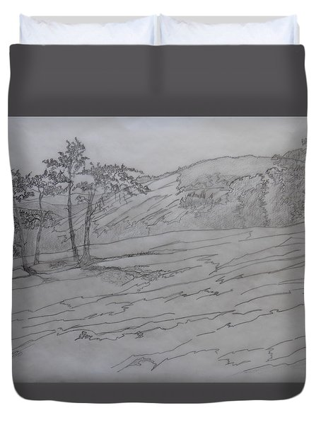 Stone Mountain And The Four Sisters Duvet Cover
