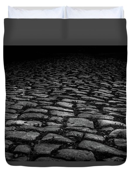 Duvet Cover featuring the photograph Stone Path by Doug Camara