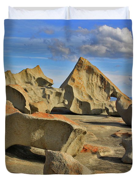 Stone Sculpture Duvet Cover