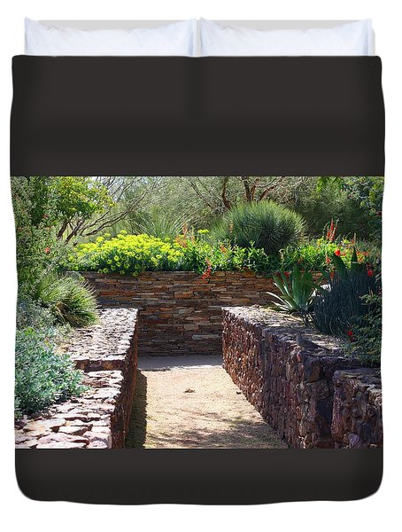 Stone Walkway Duvet Cover by Kathryn Meyer