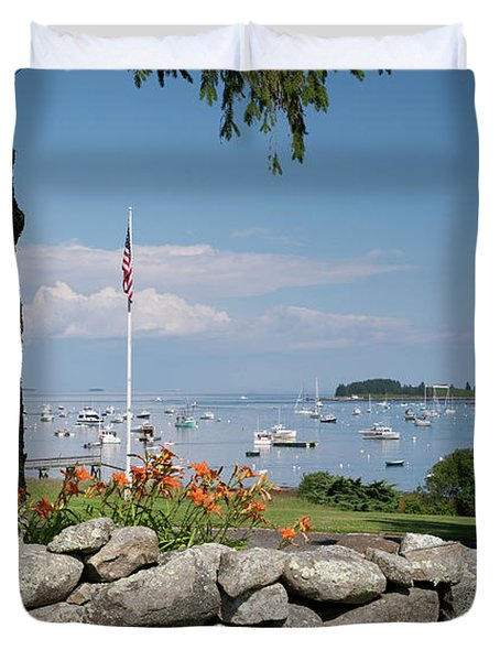Stone Wall And Tenants Harbor, Maine  #8455 Duvet Cover