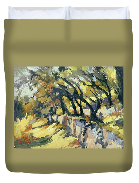 Stone Wall Olive Grove Terrace Duvet Cover