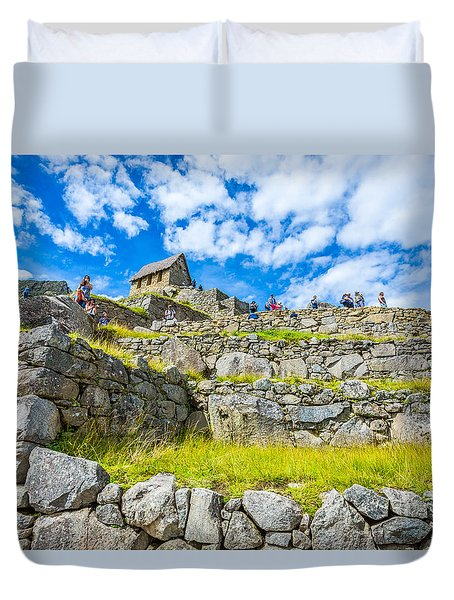 Duvet Cover featuring the photograph Stone Walls by Gary Gillette