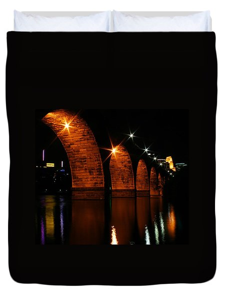 Stonearch Bridge - Minneapolis Duvet Cover