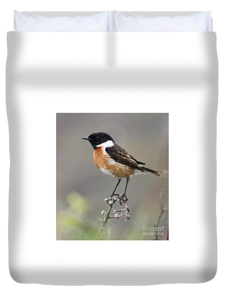 Stonechat Duvet Cover by Terri Waters