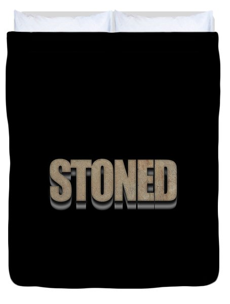 Stoned Tee Duvet Cover