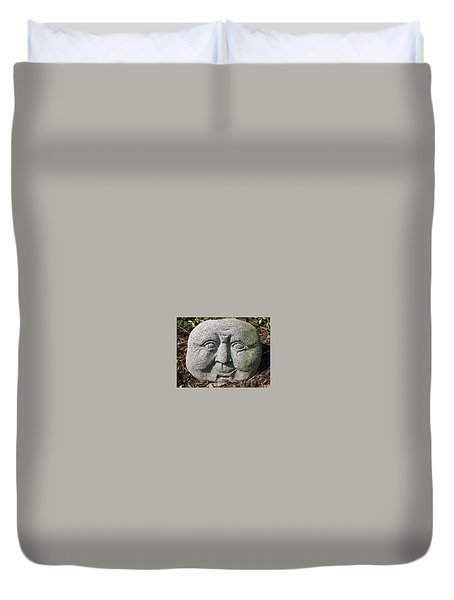 Duvet Cover featuring the photograph Stoneface by Charles Kraus