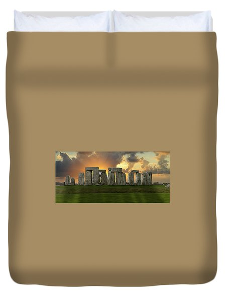 Stonehenge Duvet Cover by Don and Bonnie Fink
