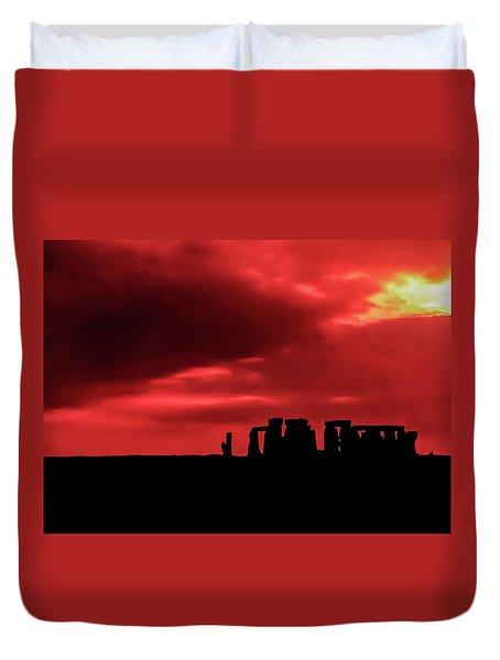 Stonehenge II Duvet Cover by Steve Harrington