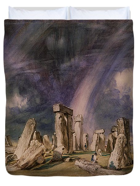 Stonehenge Duvet Cover by John Constable