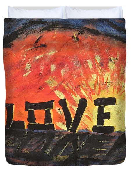 Stonehenge Sunrise Duvet Cover