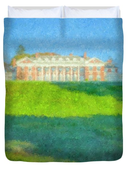 Stonehill College In October Duvet Cover