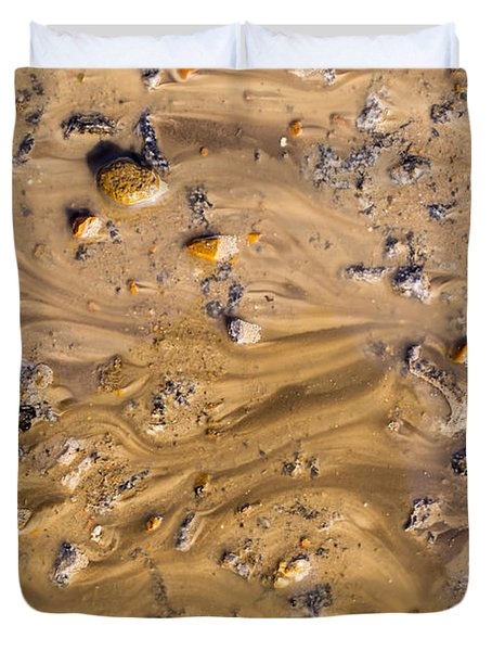 Stones In A Mud Water Wash Duvet Cover