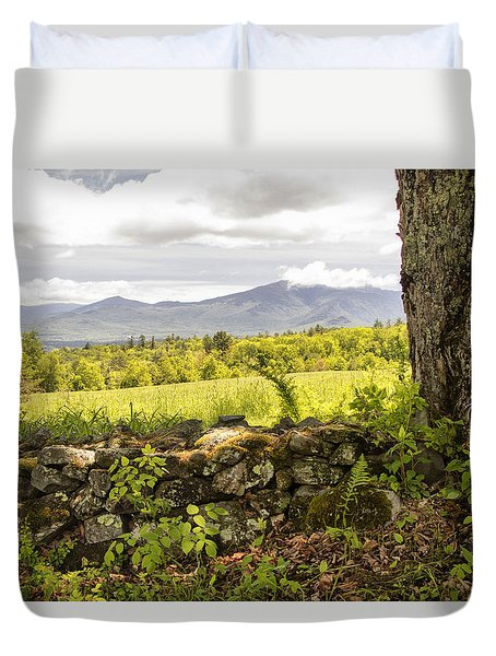 Stonewall And Cannon Mountain Duvet Cover by Betty  Pauwels