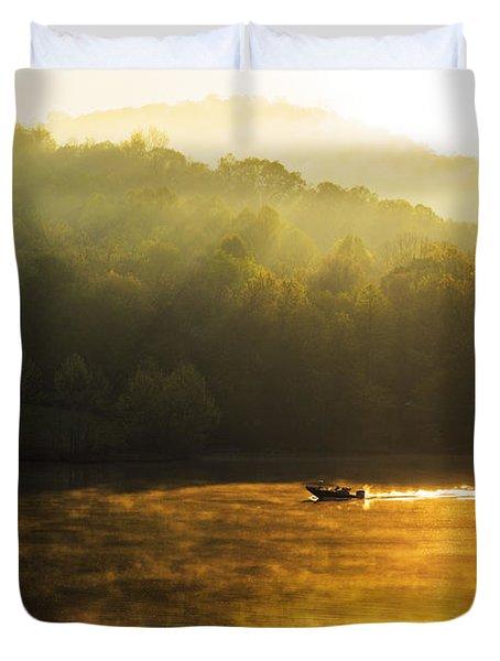 Stonewall Jackson Lake Sunrise Duvet Cover