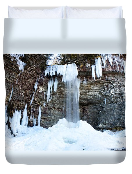 Stony Kill Falls In February #1 Duvet Cover