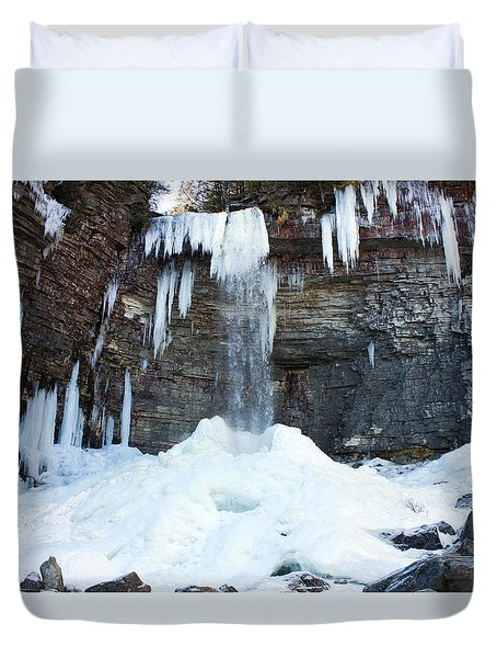 Stony Kill Falls In February #2 Duvet Cover