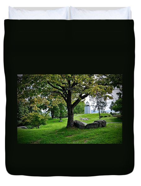 Stony Point Landscape Duvet Cover