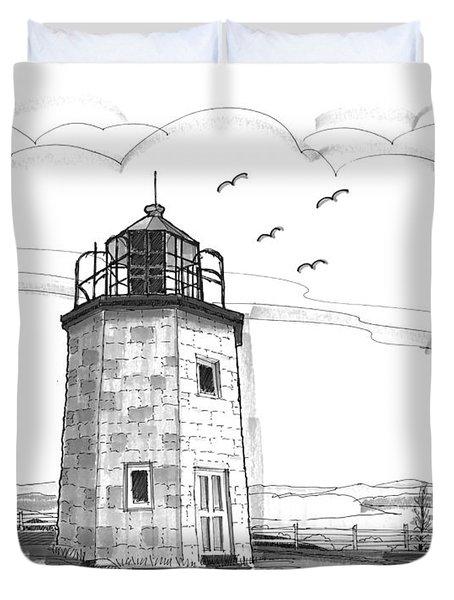 Stony Point Lighthouse Duvet Cover