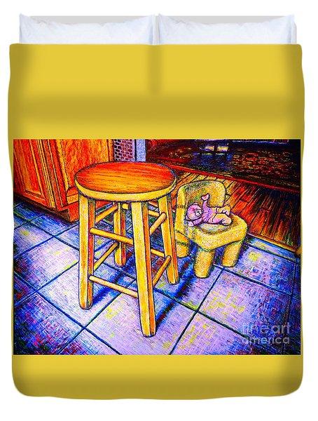 Stool Duvet Cover by Viktor Lazarev