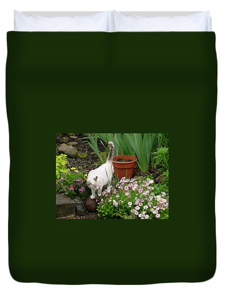 Stop To Smell Flowers Duvet Cover