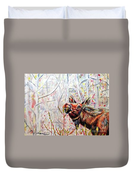Stop To Smell The Weeds Duvet Cover by Tracy Rose Moyers