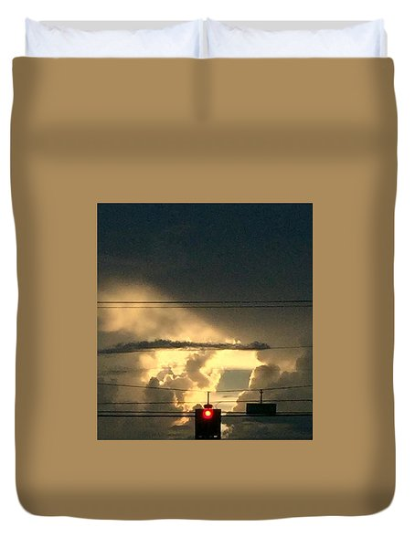 Stoplight In The Sky Duvet Cover