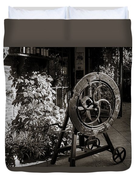 Store Front Duvet Cover by Deborah Scannell