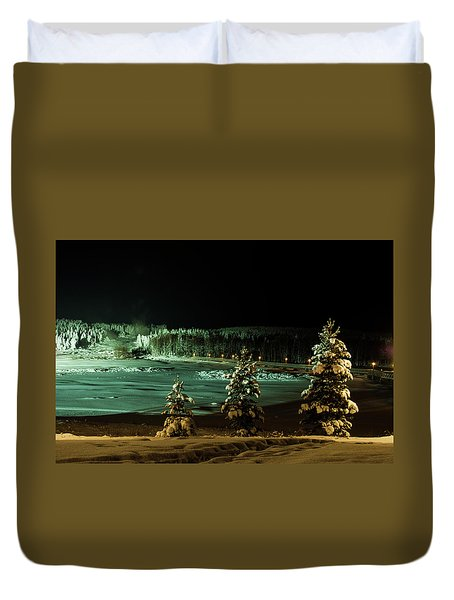 Storforsen In Night Duvet Cover by Tamara Sushko