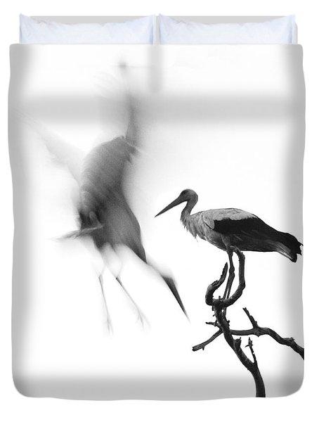 Storks Duvet Cover by Nahum Budin