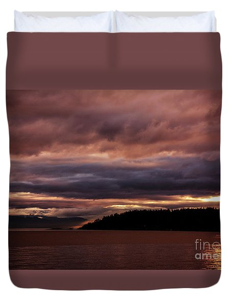 Storm 3 Duvet Cover by Elaine Hunter