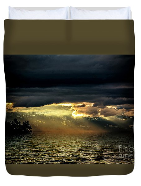 Storm 4 Duvet Cover by Elaine Hunter