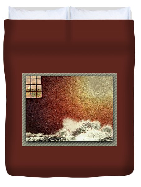 Storm Against The Walls Duvet Cover