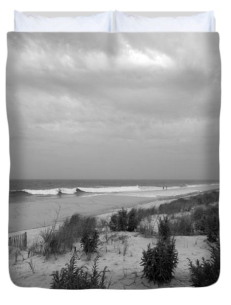 Storm Approaching - Jersey Shore Duvet Cover by Angie Tirado
