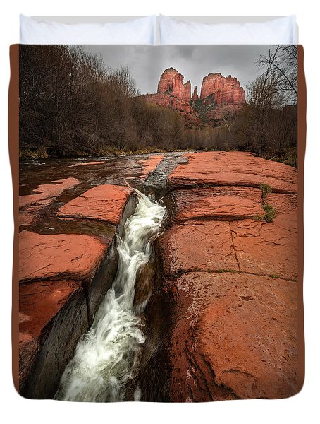 Storm At Cathedral Rock Duvet Cover