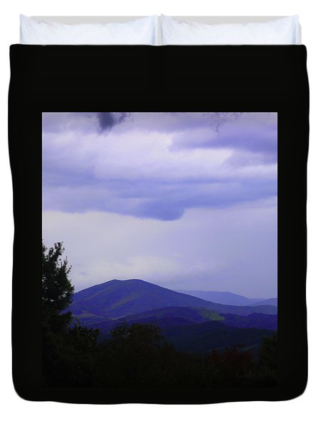 Storm At Lewis Fork Overlook 2014a Duvet Cover