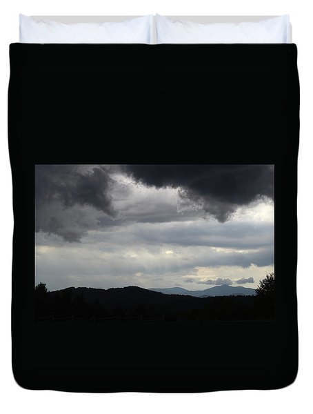 Storm At Lewis Fork Overlook 2014b Duvet Cover