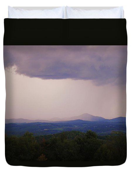 Storm At Lewis Fork Overlook Duvet Cover