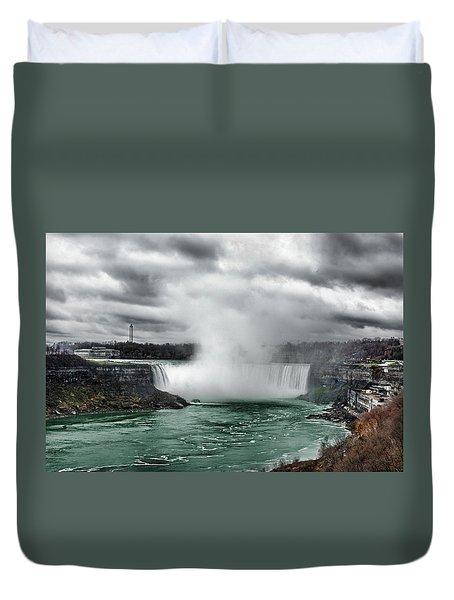 Storm At Niagara Duvet Cover
