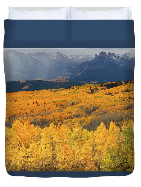 Storm At Ohio Pass During Autumn Duvet Cover